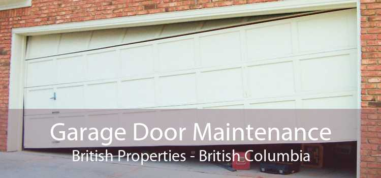 Garage Door Maintenance British Properties - British Columbia