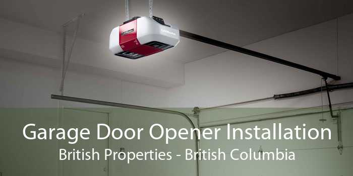 Garage Door Opener Installation British Properties - British Columbia