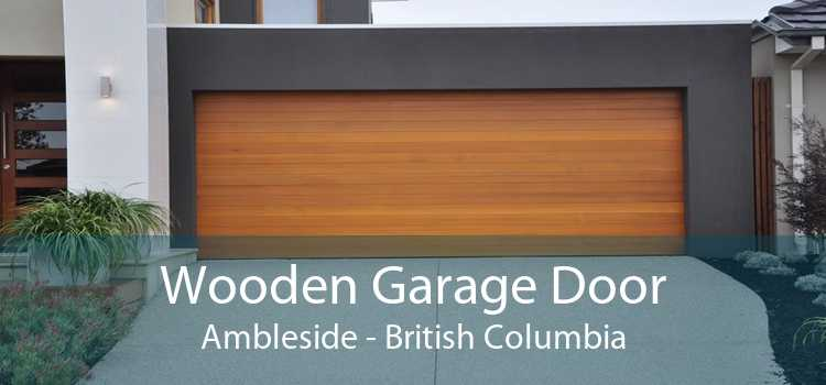 Wooden Garage Door Ambleside - British Columbia