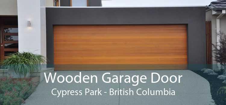 Wooden Garage Door Cypress Park - British Columbia