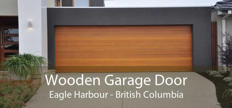 Wooden Garage Door Eagle Harbour - British Columbia