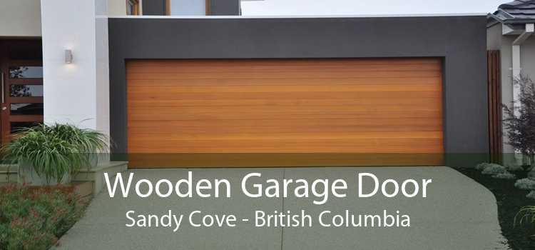 Wooden Garage Door Sandy Cove - British Columbia